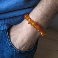 Armband aus Bernstein Splitter