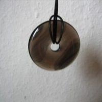 Lamellen-Obsidian Donut Kette