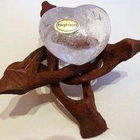 Reiner klarer Bergkristall Herz bauchig, ca. 5,0cm